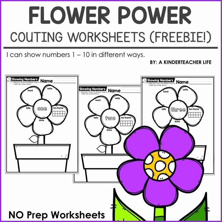 1 10 Writing Worksheets Different Ways to Show A Number 1 10 Math Flower Power
