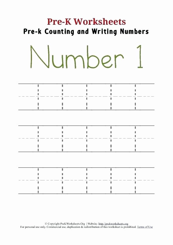 1 10 Writing Worksheets Pre K Number Worksheets