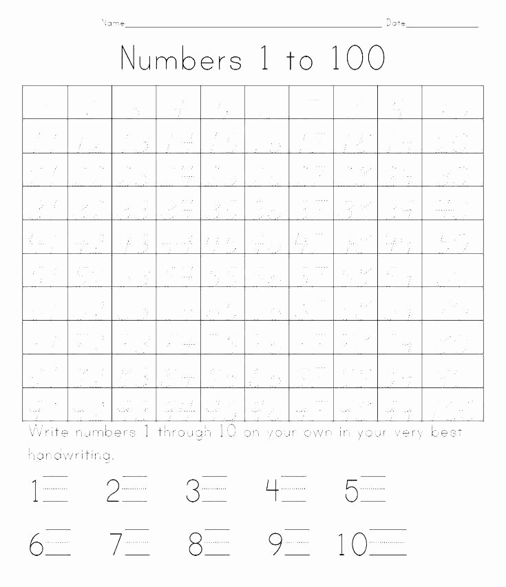 1 10 Writing Worksheets Writing Numbers 1 Worksheet the Best Worksheets Image