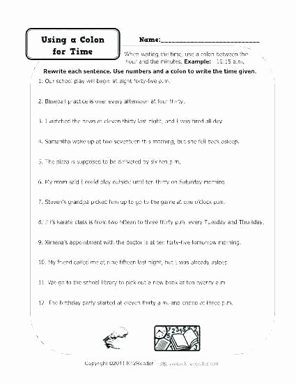 1st Grade Capitalization Worksheets Elegant Punctuation Worksheets High School with Answers Quotation End Sc