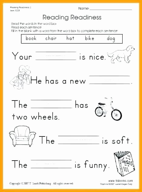 1st Grade Comprehension Worksheets Free Free First Grade Reading Exercises Fluency Passages