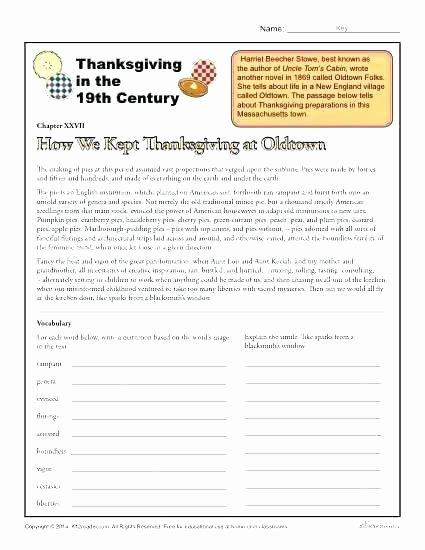 1st Grade Comprehension Worksheets Free Prehension Worksheets for Grade 1 Thanksgiving Reading