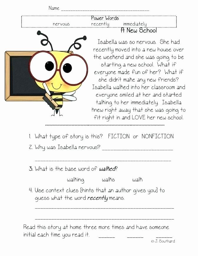 1st Grade Comprehension Worksheets Free Reading Worksheets for First Grade Grade Reading Worksheets