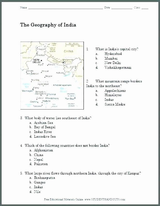 1st Grade Map Skills Worksheets Elegant First Grade social Stu S Worksheets Geography Free for 7th
