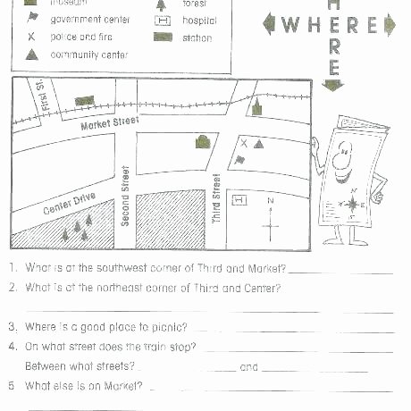 1st Grade Map Skills Worksheets Lovely Second Grade Map Skills Worksheets