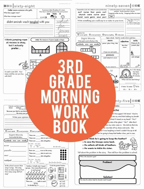 1st Grade Morning Work Worksheets 3rd Grade Mon Core Aligned Morning Work