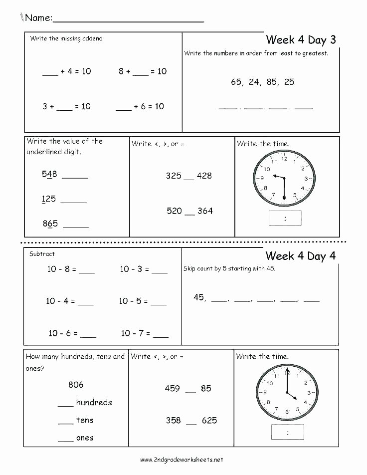 1st Grade Morning Work Worksheets Free Printable Calendar Worksheets for Grade Morning Work