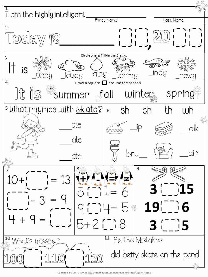 1st Grade Morning Work Worksheets Katherine Calabretta Katherinecalabr On Pinterest
