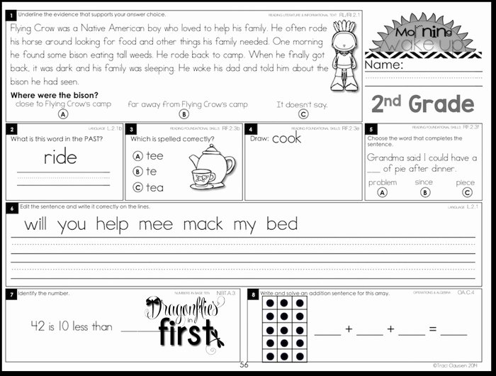 1st Grade Morning Work Worksheets Morning Worksheets for 2nd Grade Antihrap