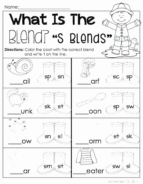 1st Grade Phonics Worksheets Pdf R Blends Worksheets