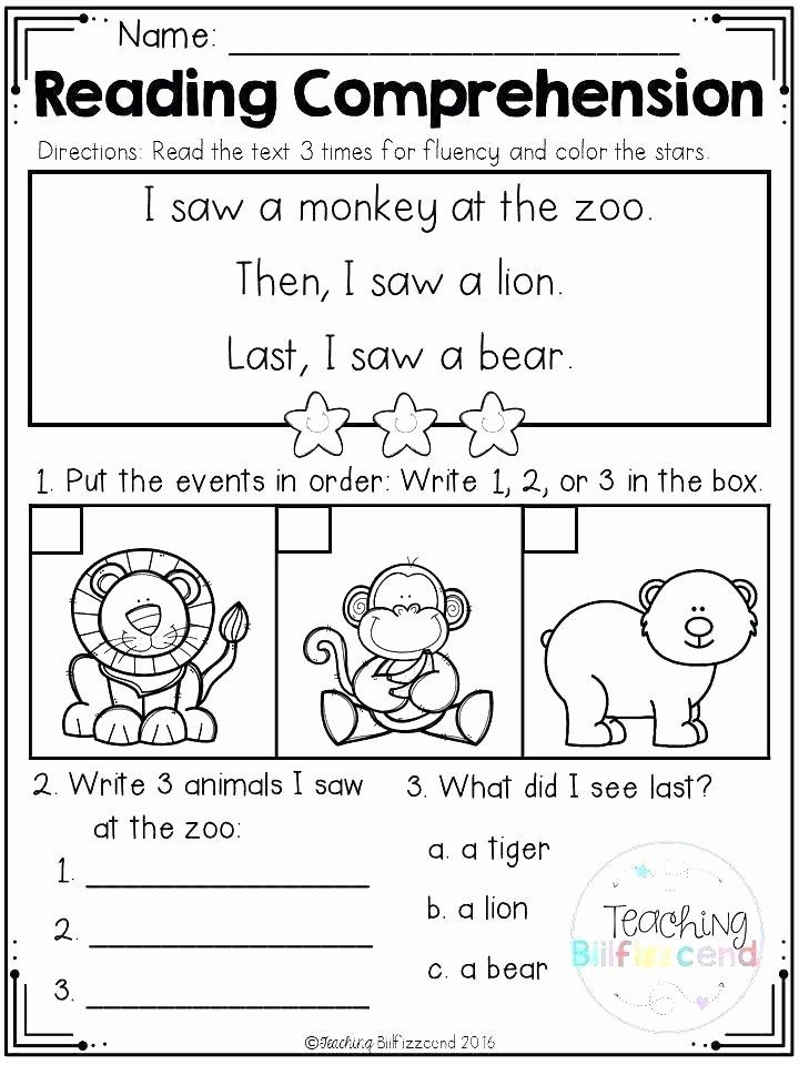 1st Grade Reading Fluency Worksheets Free Reading Prehension Worksheets 1st Grade