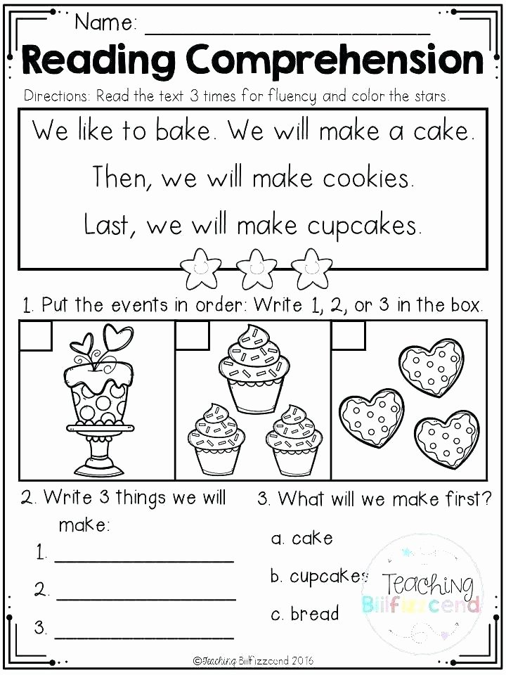 1st Grade Reading Fluency Worksheets Free Reading Worksheets for 1st Grade Worksheets for Graders
