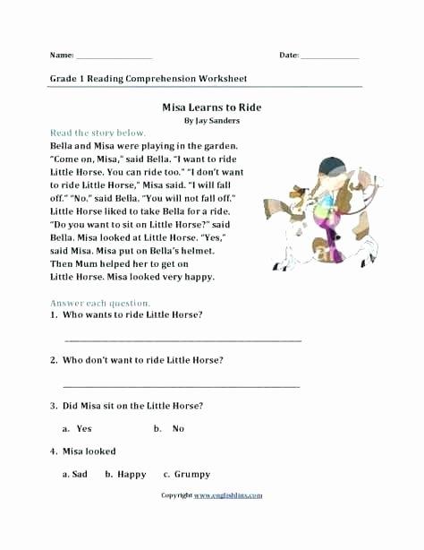1st Grade Reading Fluency Worksheets Free Reading Worksheets for 2nd Grade