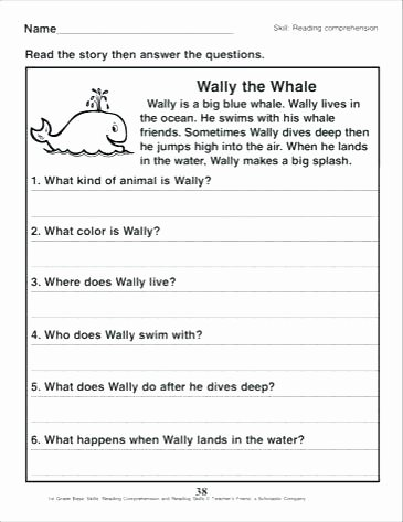 1st Grade Reading Worksheets Pdf 1st Grade Literacy Worksheets Printable Reading Worksheets