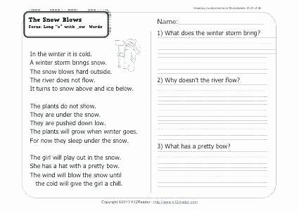 1st Grade Reading Worksheets Pdf 1st Grade Reading and Prehension Worksheets