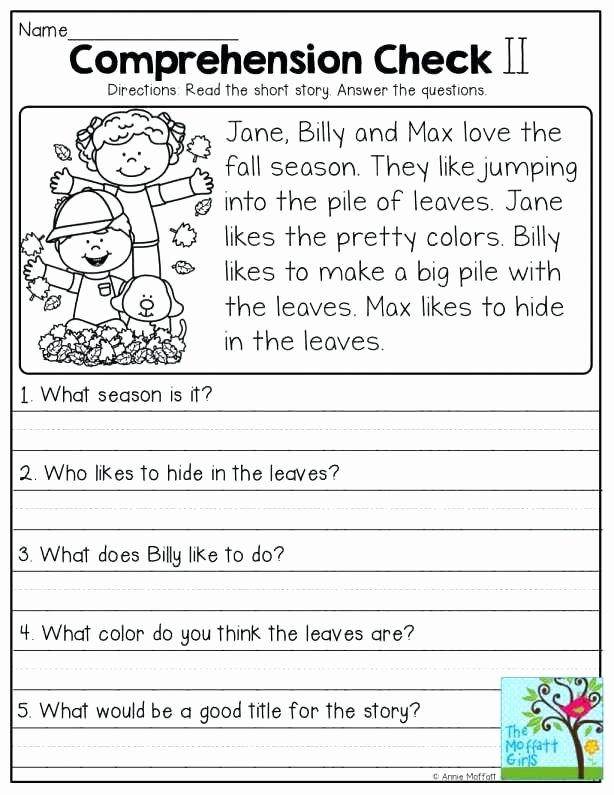1st Grade Reading Worksheets Pdf 1st Grade Reading Prehension Worksheets Pdf Awesome
