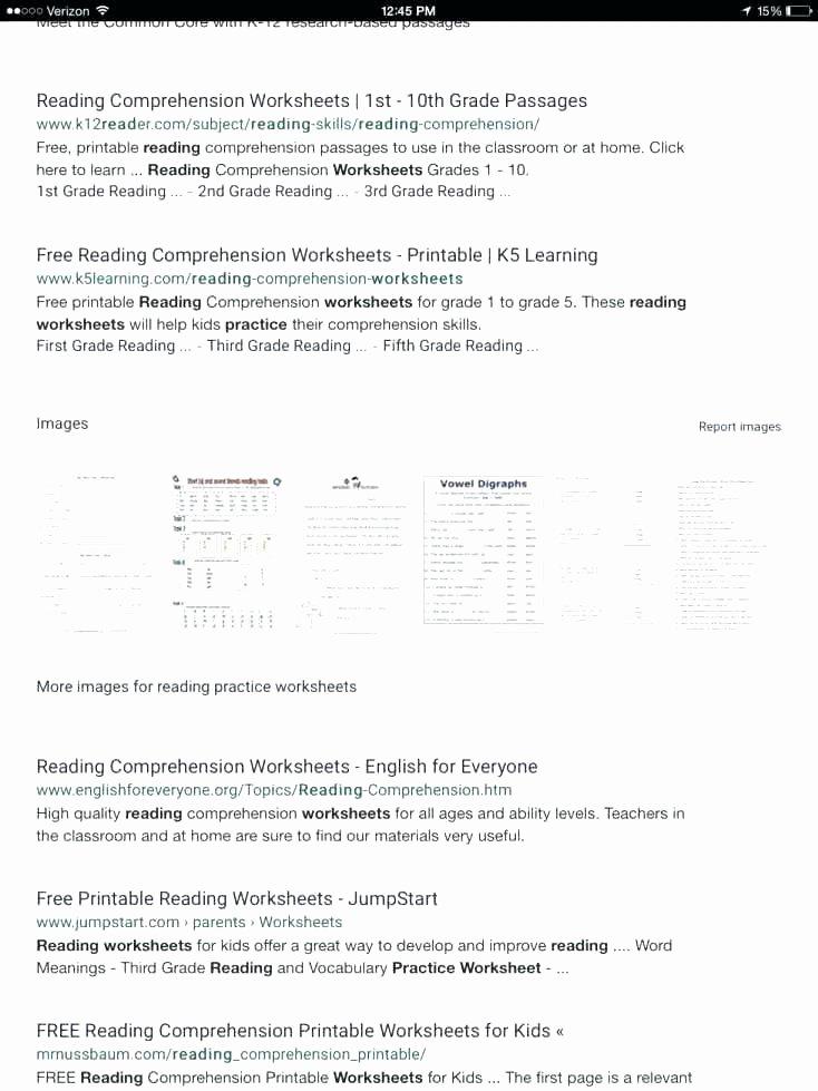 1st Grade Reading Worksheets Pdf Reading Prehension Worksheets for Kindergarten and First
