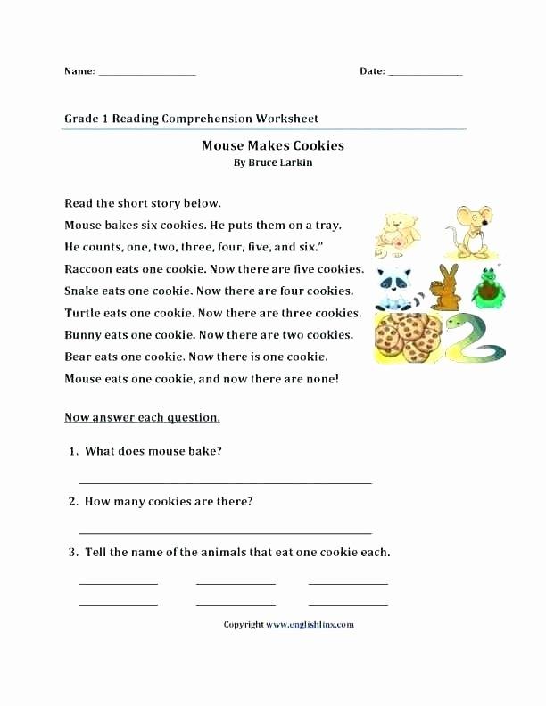 1st Grade Reading Worksheets Printable Free Grade Reading Prehension Worksheets Reading Free