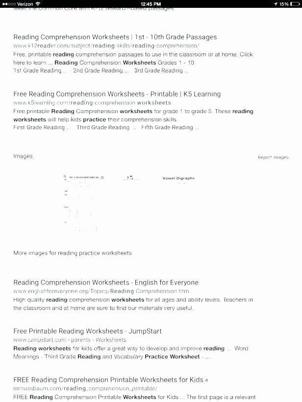 1st Grade Reading Worksheets Printable Free Printable Reading Worksheets for Kindergarten Worksheet