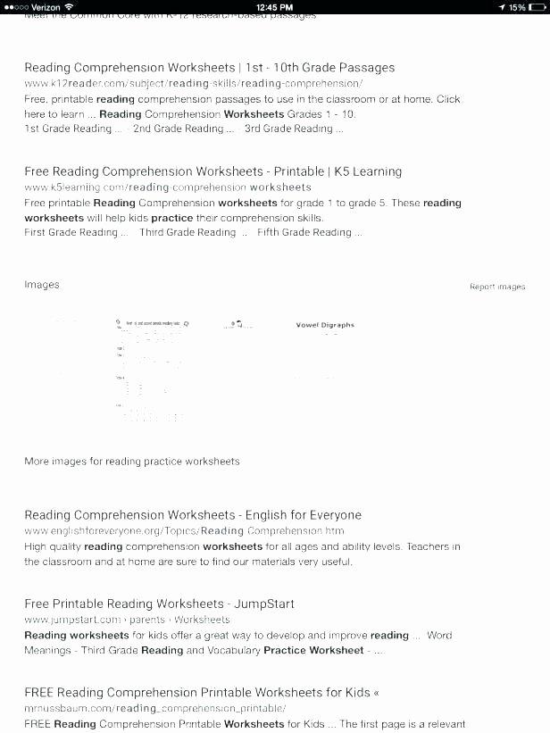 1st Grade Reading Worksheets Printable Free Printable Reading Worksheets for Kindergarten Worksheet