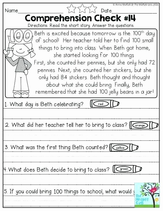 1st Grade Reading Worksheets Printable Initial Test for Grade Worksheet 9th Grade Printable