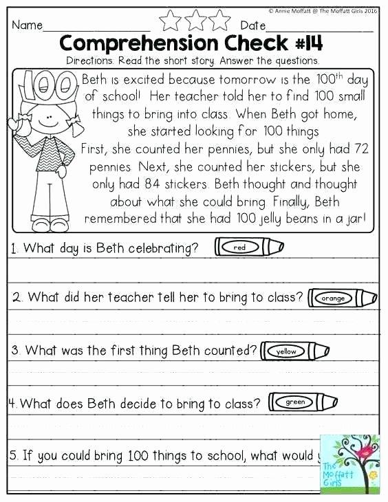 1st Grade Reading Worksheets Printable Initial Test for Grade Worksheet 9th Grade Printable