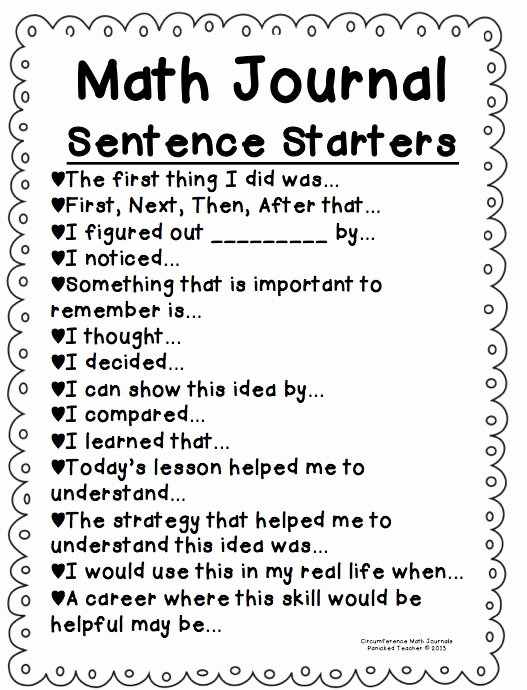 1st Grade Sentence Starters Elegant Kindergarten Math Journal Ideas – Smash Keys Fan