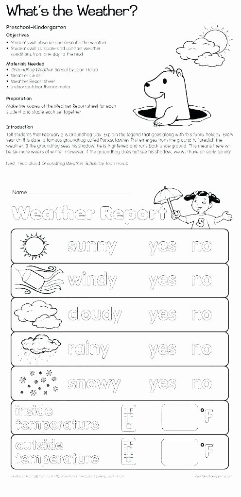1st Grade Weather Worksheets 4th Grade Weather Worksheets
