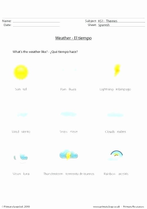 1st Grade Weather Worksheets Esl Weather Worksheets
