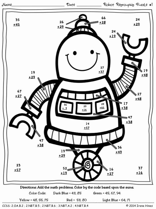 2 Digit Addition Coloring Worksheets Math Coloring Worksheets Multiplication Awesome Math