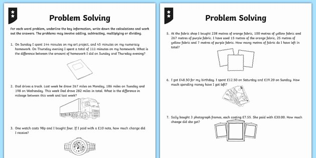 2 Step Word Problems Worksheets Differentiated Addition and Subtraction Word Problem