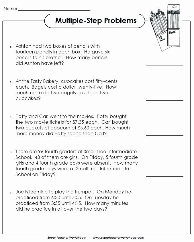 2 Step Word Problems Worksheets Free Math Word Problem Worksheets