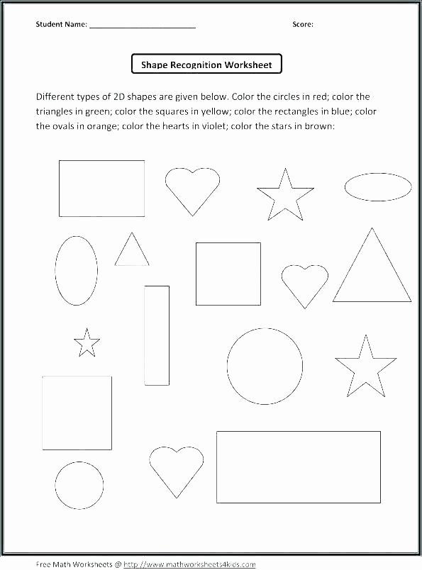 2d Shapes Worksheet Kindergarten 2d Shapes Worksheets Grade 5