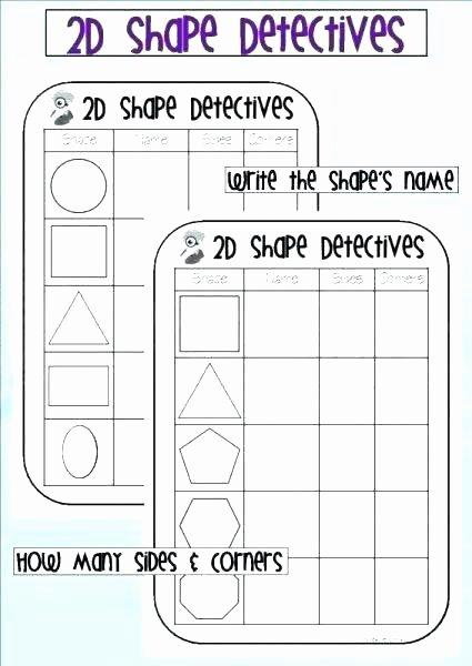 2d Shapes Worksheet Kindergarten 2d Shapes Worksheets