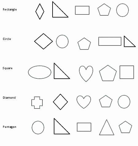 2d Shapes Worksheet Kindergarten Color the Shapes Worksheet