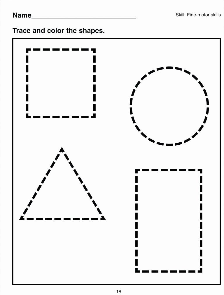 2d Shapes Worksheet Kindergarten Free Cutting Skills Worksheets Printable for Preschoolers