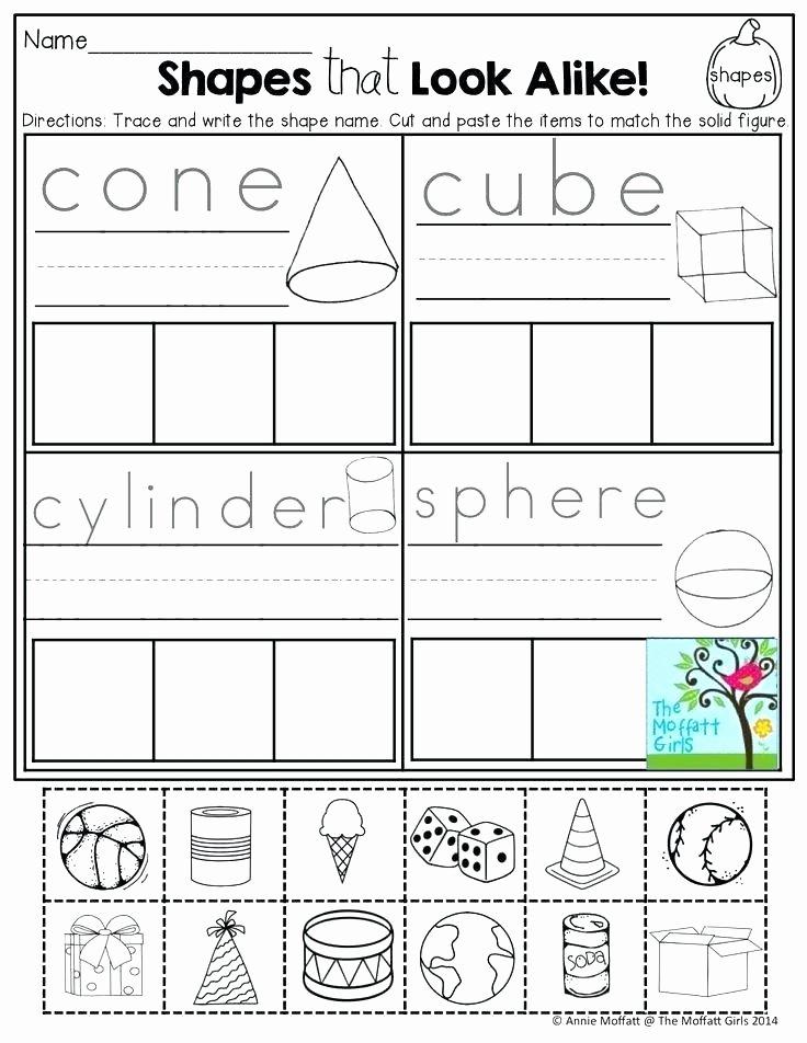 2d Shapes Worksheet Kindergarten Grade Shapes Worksheets Math Free Activity 2d 6 Related Post 4