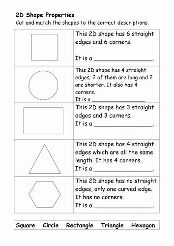 2d Shapes Worksheet Kindergarten Image Result for Worksheets to Teach Properties Of 2d Shapes