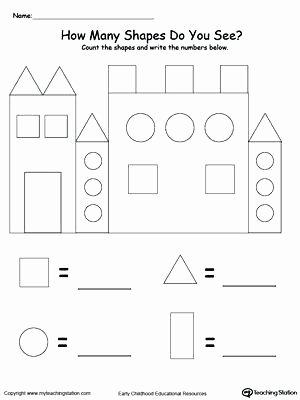2d Shapes Worksheet Kindergarten Shapes for Kids Worksheets – Trungcollection