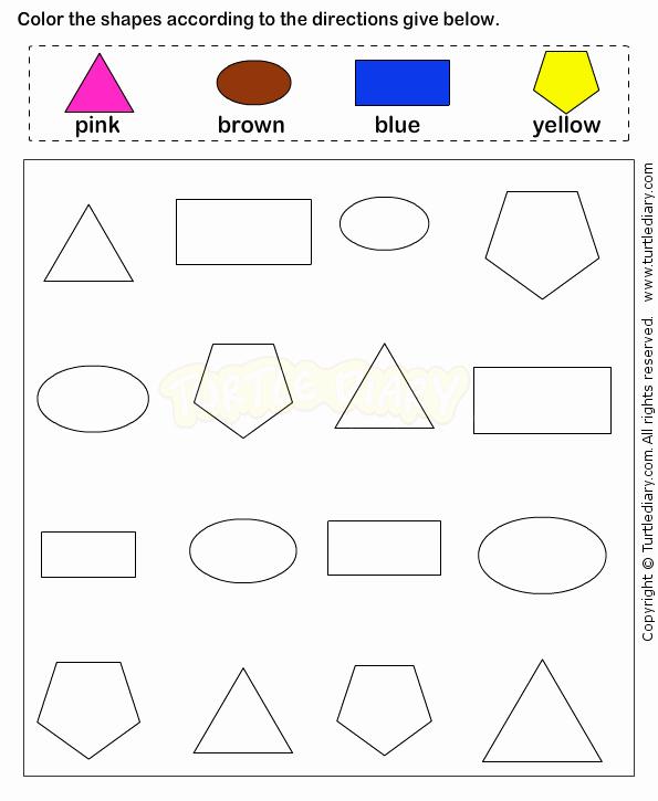 2d Shapes Worksheet Kindergarten Shapes4 Math Worksheets Preschool Worksheets