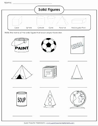 two dimensional shapes worksheets kindergarten grade plane and solid