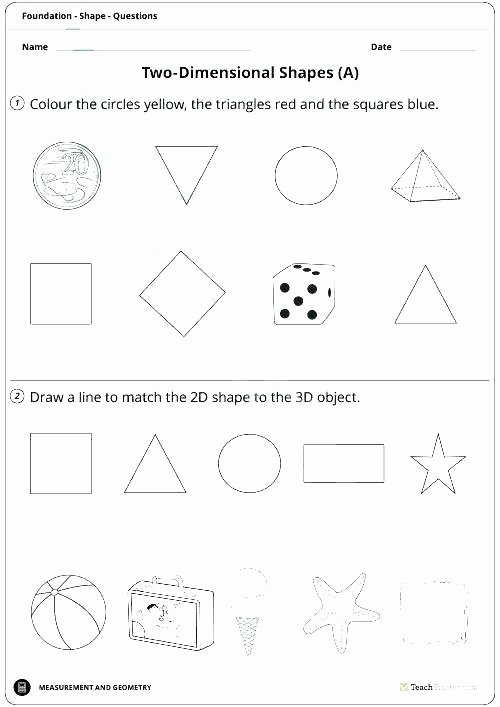 2d Shapes Worksheets Kindergarten 2d Shapes Worksheets Grade 1