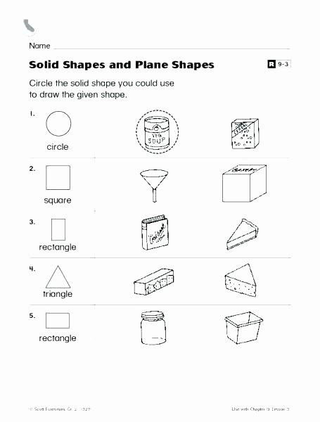 2d Shapes Worksheets Kindergarten 2nd Grade 2d Shapes Worksheets