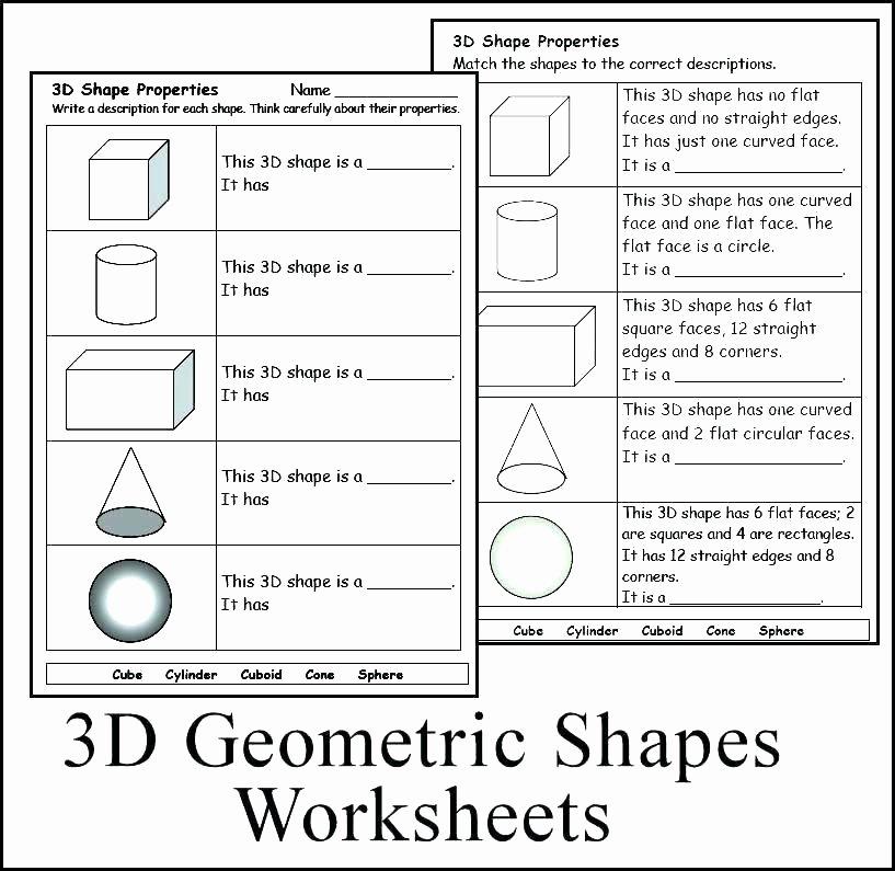 2d Shapes Worksheets Kindergarten 3d Shapes Worksheets Kindergarten