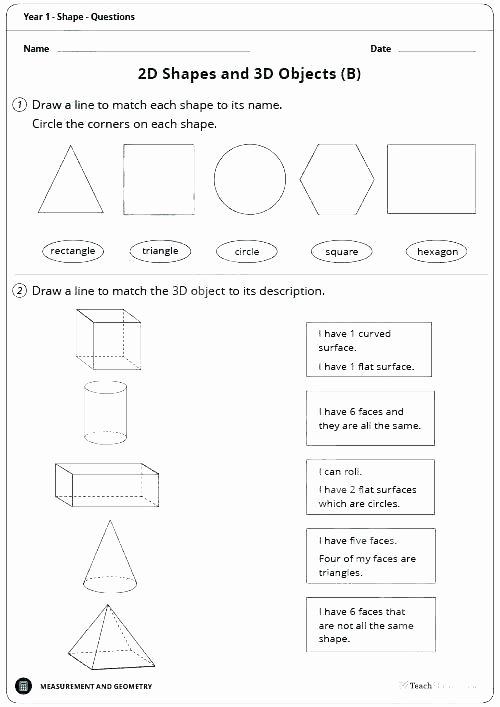 2d Shapes Worksheets Kindergarten Shapes Worksheets Grade 1 2d Shapes Worksheets for Grade 2