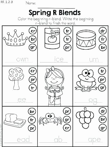 2nd Grade Consonant Blends Worksheets 2nd Grade Phonics Worksheets