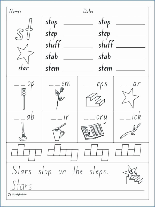 2nd Grade Consonant Blends Worksheets Blend Worksheets Blends Worksheet Consonant Grade Digraphs