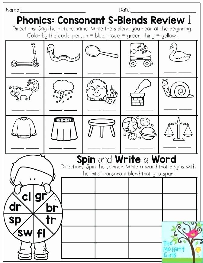 2nd Grade Consonant Blends Worksheets Phonics Consonant Blends Worksheets