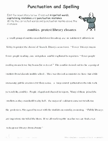 2nd Grade Editing Worksheets Free Printable Sentence Correction Worksheets Grade Grammar