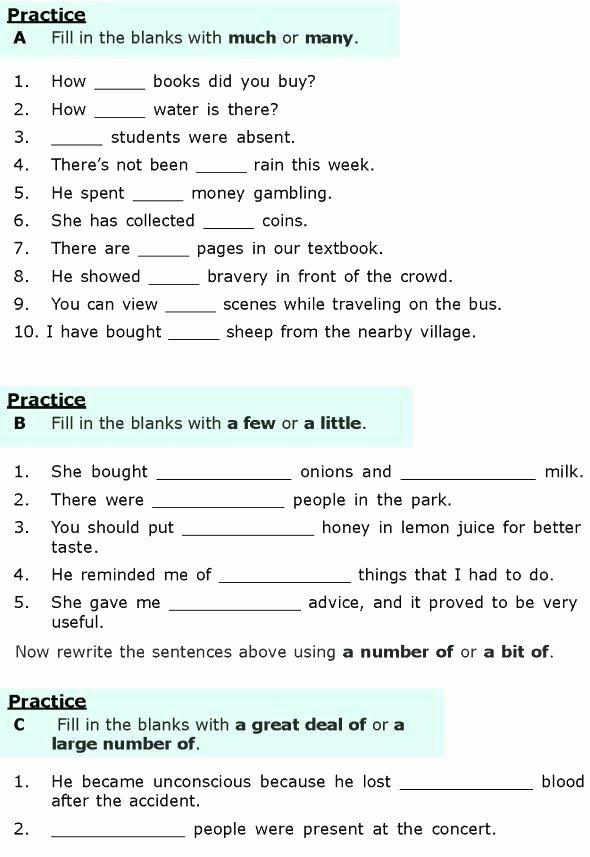 2nd Grade Grammar Worksheets Pdf Grade Grammar Worksheets 6 Lesson Quantifiers 1 6th Pdf Third